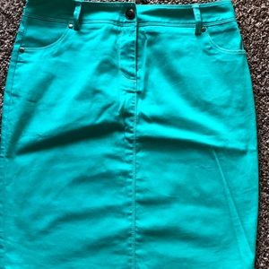 Turquoise skirt